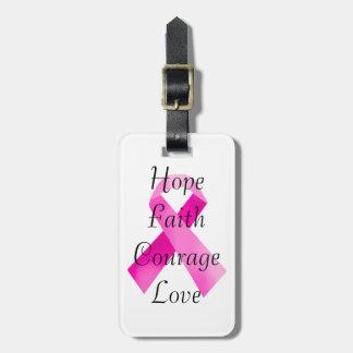 ピンクのリボンの信頼の荷物のラベル ラゲッジタグ