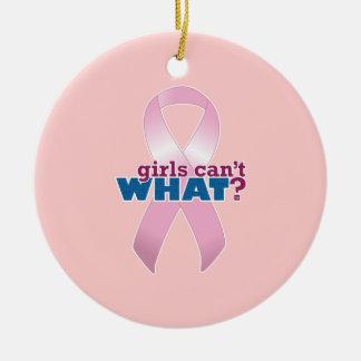 ピンクのリボンの女の子は何できませんか。 セラミックオーナメント