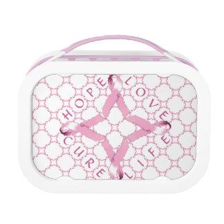 ピンクのリボンの希望愛治療の生命 ランチボックス