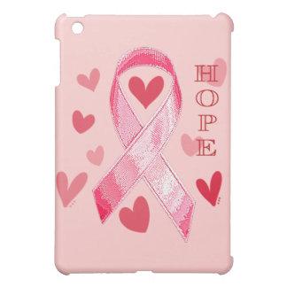 ピンクのリボンの希望 iPad MINIケース