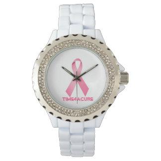 ピンクのリボンの腕時計の乳癌 腕時計