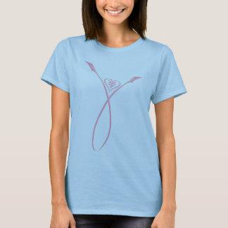 ピンクのリボンの花 Tシャツ