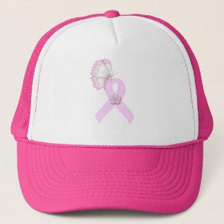 ピンクのリボンの蝶 キャップ