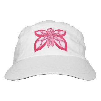 ピンクのリボンの蝶-帽子 ヘッドスウェットハット