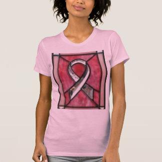 ピンクのリボンのTシャツ Tシャツ