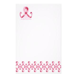 ピンクのリボンは感謝していしています 便箋