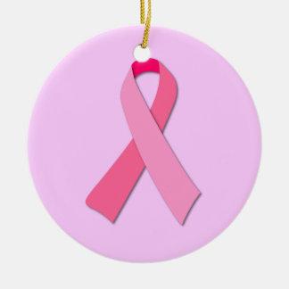 ピンクのリボン セラミックオーナメント