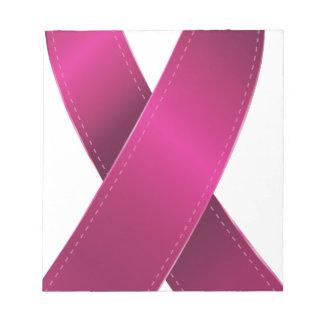 ピンクのリボン ノートパッド