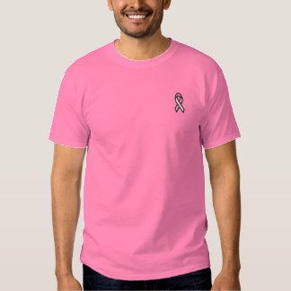ピンクのリボン 刺繍入りTシャツ