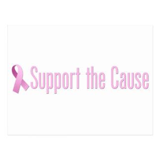 ピンクのリボン-原因を支えて下さい ポストカード