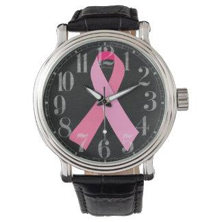 ピンクのリボン 腕時計