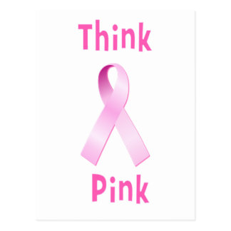 ピンクのリボン- Thnkのピンク ポストカード