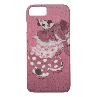 ピンクのレトロのサーカス象のiPhone 7の場合 iPhone 8/7ケース