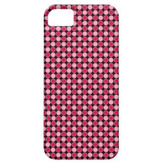 ピンクのレトロの点のチェッカーボード iPhone SE/5/5s ケース