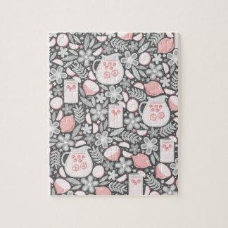ピンクのレモネードの夕べガラス ジグソーパズル