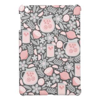 ピンクのレモネードの夕べガラス iPad MINIケース