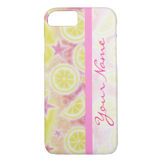 ピンクのレモネードの「名前」のiPhone 7のやっとそこに場合 iPhone 8/7ケース