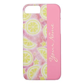 ピンクのレモネードの「名前」のiPhone 7の場合のピンク iPhone 8/7ケース