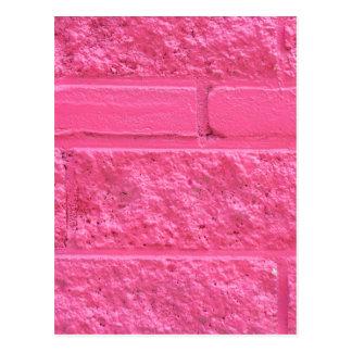 ピンクのレンガ壁 ポストカード