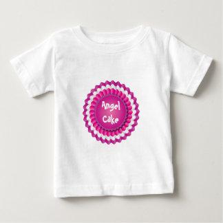 ピンクのロゼット ベビーTシャツ