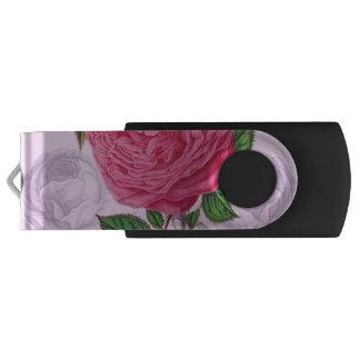 ピンクのロマンチック上がりました USBフラッシュドライブ