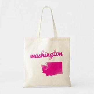 ピンクのワシントン州 トートバッグ