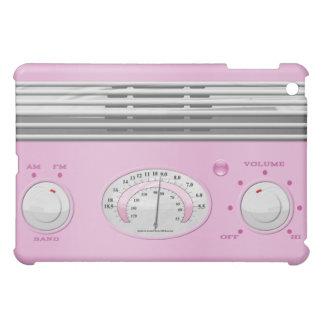 ピンクのヴィンテージのラジオ iPad MINIカバー