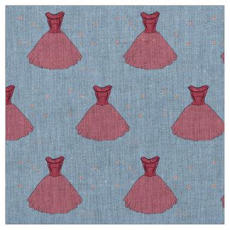ピンクのヴィンテージの服パターン ファブリック