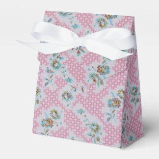 ピンクのヴィンテージの花の生地箱 フェイバーボックス