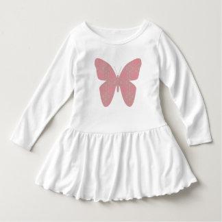 ピンクのヴィンテージの蝶服 ドレス