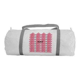 ピンクの三角形のduffleバッグ ジムバッグ