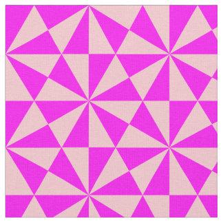 ピンクの三角形パターンは上がり、 ファブリック