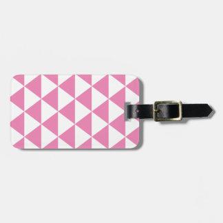 ピンクの三角形パターン ラゲッジタグ