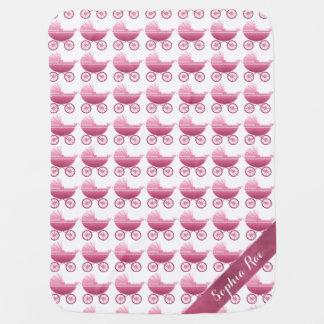 ピンクの乳母車 ベビー ブランケット