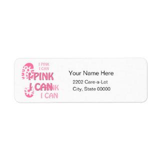 ピンクの乳癌の歩行Iのピンク私はラベルを戻してもいいです ラベル