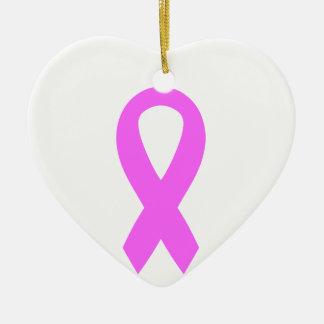 ピンクの乳癌の認識度のリボン セラミックオーナメント