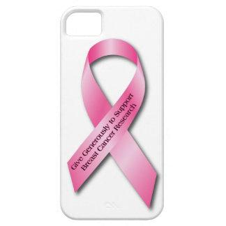 ピンクの乳癌の認識度のリボン iPhone SE/5/5s ケース