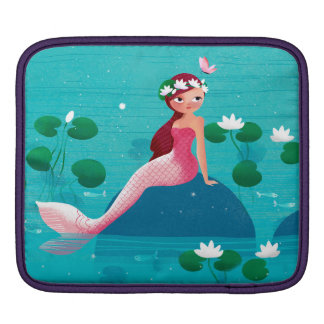 ピンクの人魚のiPadの袖 iPadスリーブ