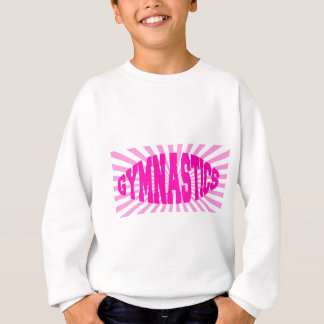 ピンクの体操 スウェットシャツ