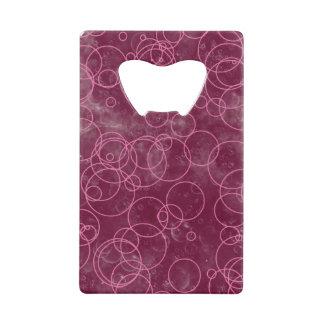 ピンクの円の泡カードオープナ ウォレット ボトルオープナー