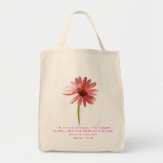ピンクの円錐形の花草ウィザーズしかし トートバッグ