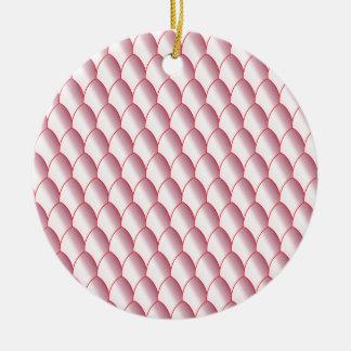 ピンクの卵の殼の背景 セラミックオーナメント