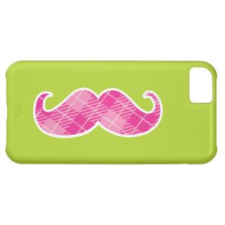 ピンクの口ひげのiPhoneの場合 iPhone5Cケース