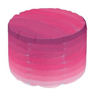 ピンクの口紅のグラデーションでストライプなPouf プーフ