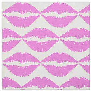 ピンクの口紅の生地 ファブリック