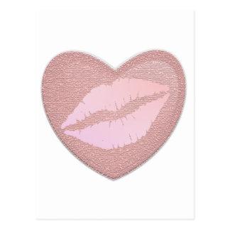 ピンクの口紅 ポストカード