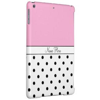 ピンクの名前をカスタムする、黒く及び白い水玉模様