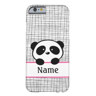 ピンクの名前入りなパンダのiPhone6ケース Barely There iPhone 6 ケース