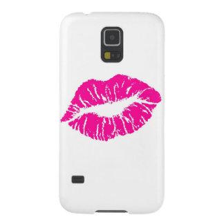 ピンクの唇 GALAXY S5 ケース