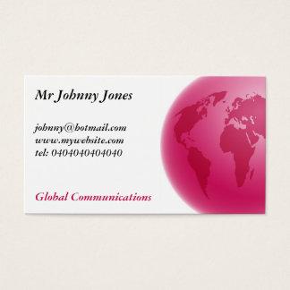 ピンクの地球、ジョニージョーンズ氏 名刺
